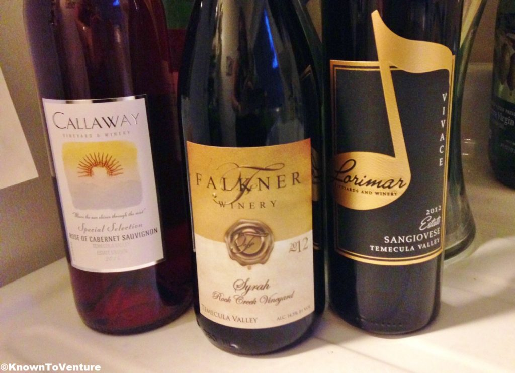 The favorite wines from the wine tastings in Temecula, CA www.knowntoventure