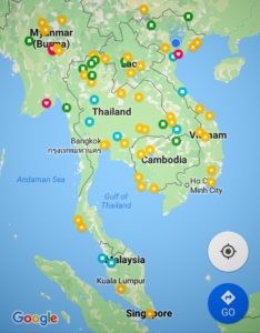 Want to visit and visited places pinned on my map. www.knowntoventure.com