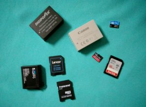 Spare SD cards and batteries are essential during travel. www.knowntoventure.com