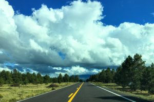 On the road in Flagstaff, Arizona. www.knowntoventure.com