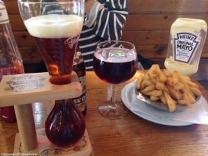 Beer and fries in Brussels, Belgium www.knowntoventure.com