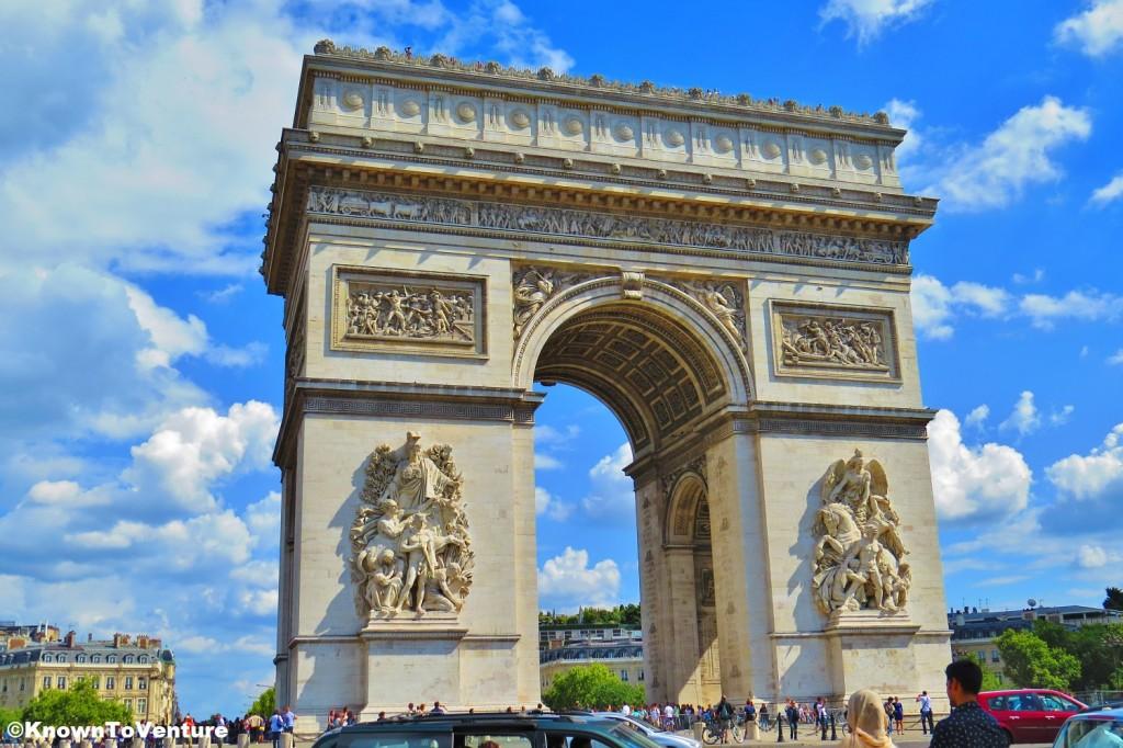 Arc de Triomphe, Paris, France www.knowntoventure.com