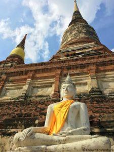 Wat Yai Chai Mongkol, Ayutthaya, Thailand www.knowntoventure.com