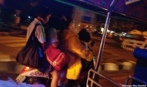 The family motorbike is a common sight in Thailand. Photo credit - Georgia May Goodall