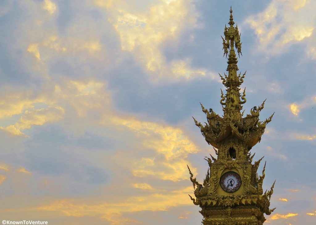 The Golden Clock Tower by Thai artist Chalermchai Khositpipat. Chiang Rai Thailand www.knowntoventure.com