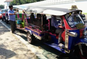 The infamous tuk tuks of Thailand that are expensive if you're not careful. www.knowntoventure.com