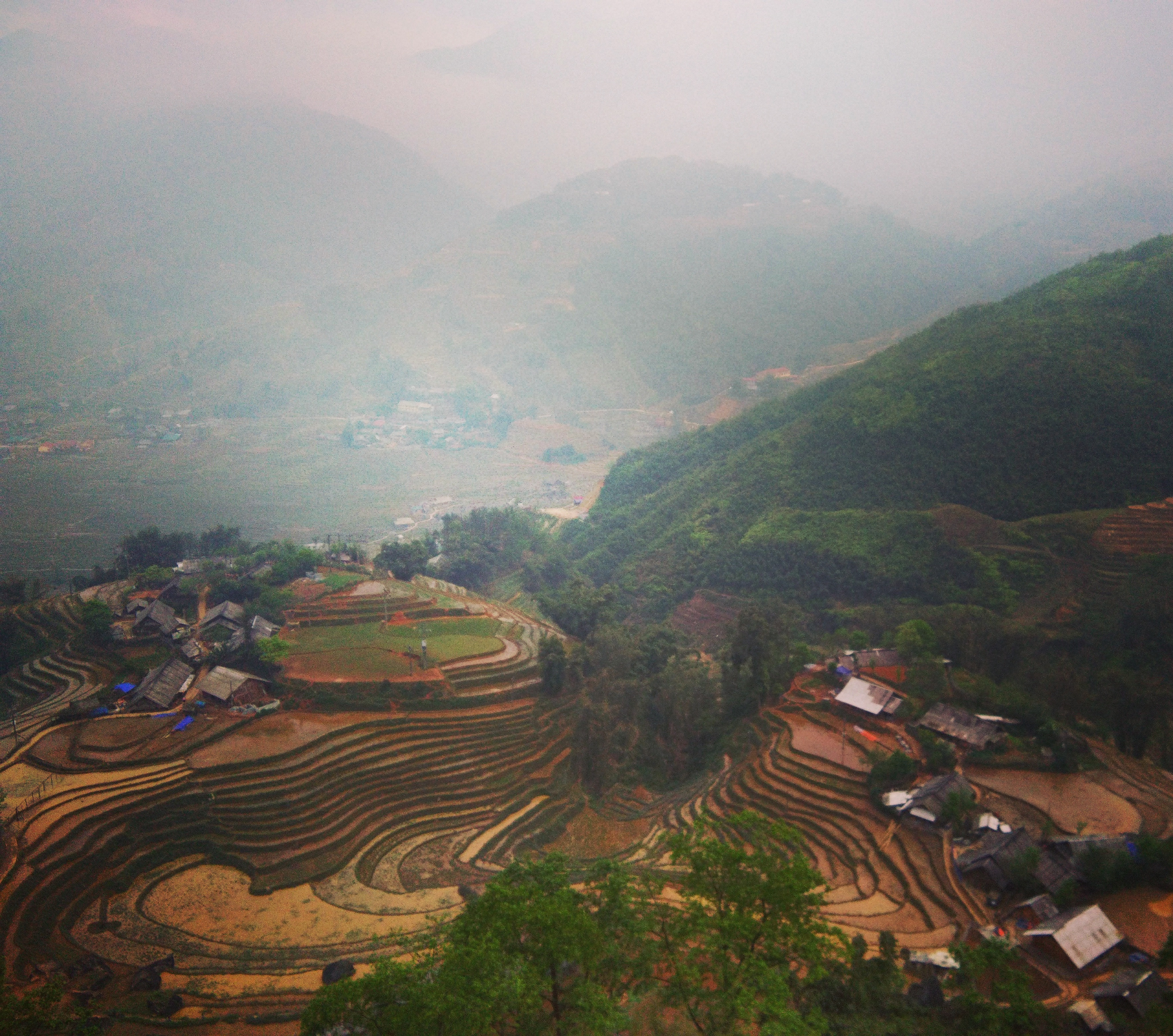 Terrace farming in the villages near Sapa Vietnam www.knowntoventure.com
