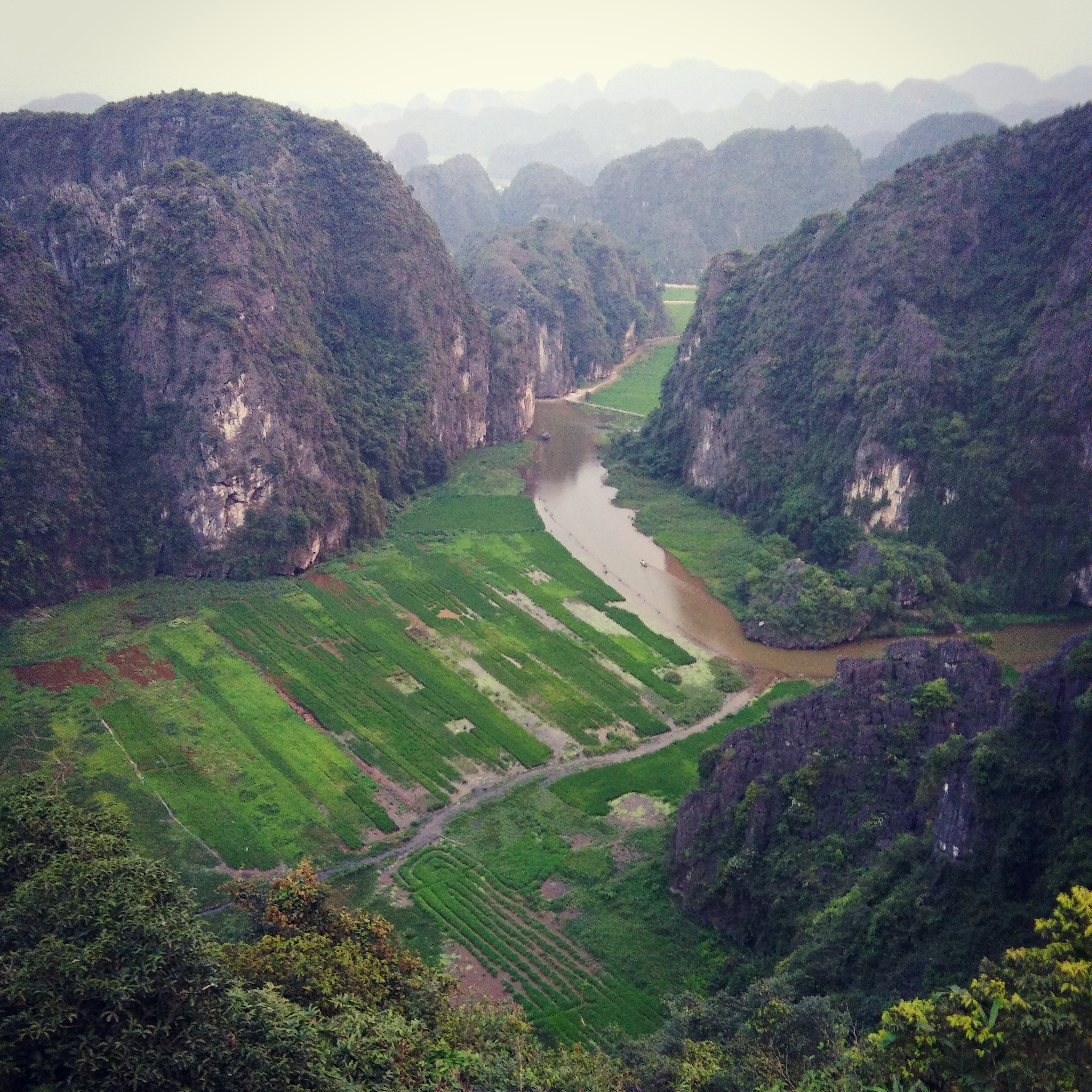 The view from atop Hang Múa, Tam Coc Vietnam www.knowntoventure.com
