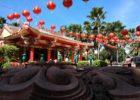 A rainbow pagoda in Buriram, Thailand www.knowntoventure.com