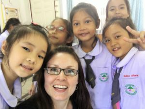 Some of my adorable second graders in Thailand English classes. www.knowntoventure.com Jessie Bender